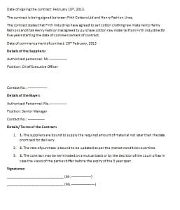 Commercial Contract Template