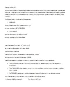 License Contract Template