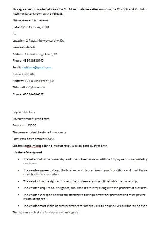 Contractual Agreement Template Contract Agreement Template Jpg