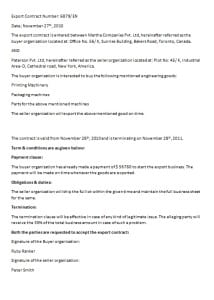 export contract template