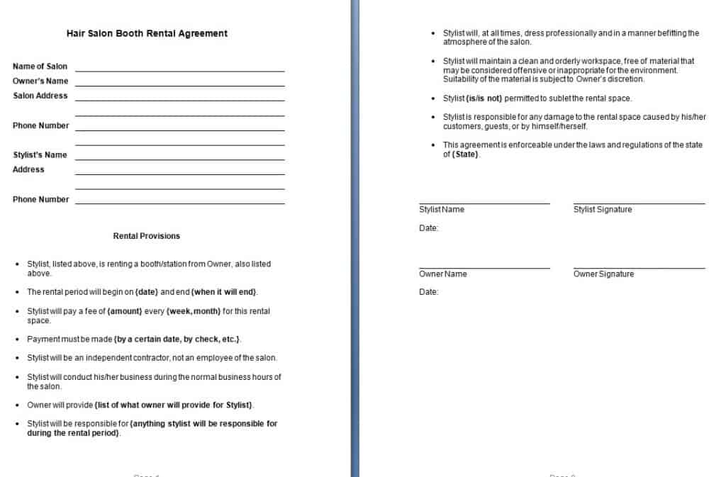 Informal Lease Agreement Template