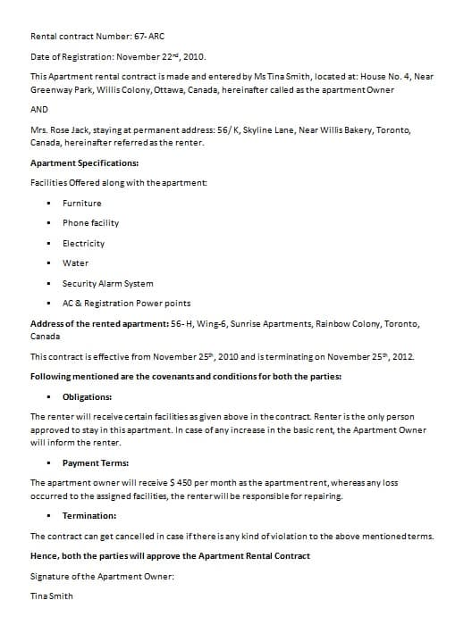download free house rental contract template. Resume Example. Resume CV Cover Letter