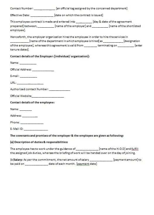 Consulting Contract Template Contract Agreements Formats