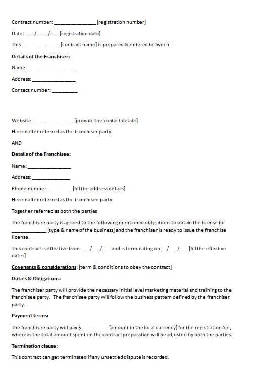 Franchise Agreement Termination Letter Sample Poemdocor